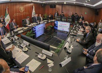 Presentación en la Junta de Coordinación Política del Senado